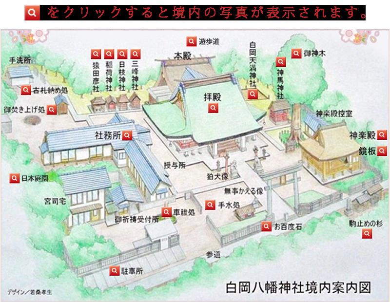 白岡八幡神社境内案内図